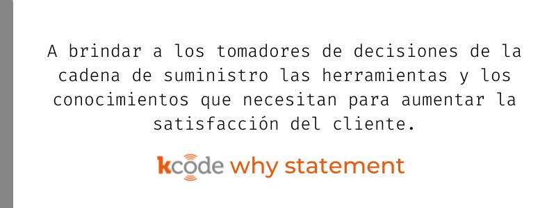 kcode why statement spanish